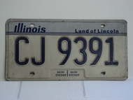 ILLINOIS Land of Lincoln License Plate CJ 9391