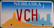 Nebraska Vanity License Plate VCH