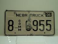 2004 NEBRASKA Commercial Truck License Plate 8 6955