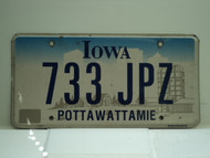 IOWA License Plate 733 JPZ