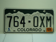 2009 COLORADO License Plate 764 OXM