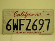 CALIFORNIA Lipstick License Plate 6WFZ697