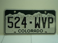 COLORADO License Plate 524 WVP