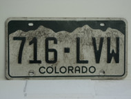 COLORADO License Plate 716 LVW