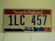 2005 SOUTH DAKOTA Mount Rushmore License Plate 1LC 457