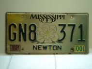 2000 MISSISSIPPI Magnolia License Plate GN8 371