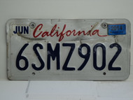 CALIFORNIA Lipstick License Plate 6SMZ902