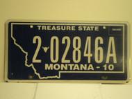 2010 MONTANA Treasure State License Plate 202846A