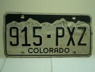 COLORADO License Plate 915 PXZ
