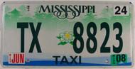 2008 Jun Mississippi Taxi TX 8823 License Plate