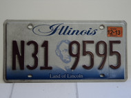 ILLINOIS Land of Lincoln License Plate N31 9595