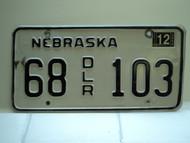 2004 NEBRASKA Dealer License Plate 68 DLR 103