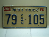 1996 NEBRASKA Commercial Truck License Plate 79 Comm 105