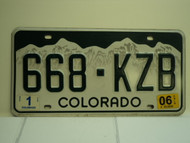 2006 COLORADO License Plate 668 KZB