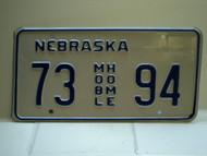NEBRASKA Mobile Home License Plate 73 AGR 95