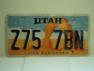 UTAH Life Elevated License Plate Z75 7BN