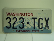 WASHINGTON Evergreen State License Plate 323 TGX