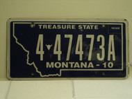 2010 MONTANA Treasure State License Plate 4 47473A