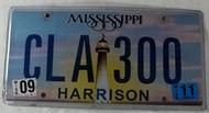2011 Sep Mississippi Vanity License Plate CLA300