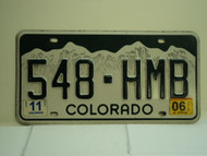 2006 COLORADO License Plate 548 HMB