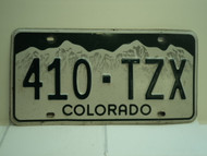 COLORADO License Plate 410 TZX