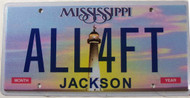 Mississippi Vanity ALL4FT License Plate