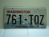 Washington Evergreen State License Plate 761 TQZ