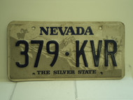 NEVADA Silver State License Plate 379 KVR