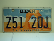 UTAH Life Elevated License Plate Z51 2DJ