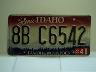 2000 IDAHO Famous Potatoes License Plate 8B C6542