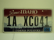 2010 IDAHO Scenic Famous Potatoes License Plate 1A XC041 1