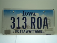 IOWA License Plate 313 ROA