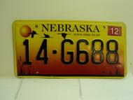 2005 NEBRASKA License Plate 14 G688