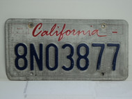 CALIFORNIA Lipstick License Plate 8NO3877