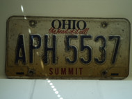 OHIO Heart of it all License Plate APH 5537