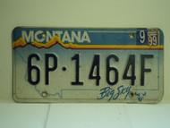 1999 MONTANA Big Sky License Plate 6P 1464F