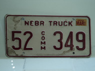 2002 NEBRASKA Commercial Truck License Plate 52 349