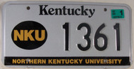 2003 Mar Kentucky NKU License Plate 1361