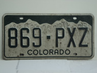 COLORADO License Plate 869 PXZ