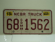2003 NEBRASKA Commercial Truck License Plate 68 1562 1