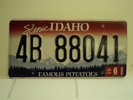 2003 IDAHO Famous Potatoes License Plate 4B 88041