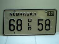 2004 NEBRASKA Dealer License Plate 68 DLR 58