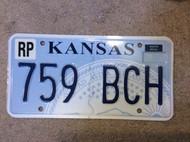 Republic Co Kansas 759 BCH License Plate