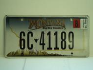 2010 MONTANA Big Sky Country License Plate 6C 41189