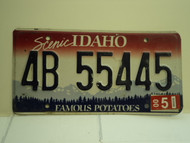 2000 IDAHO Famous Potatoes License Plate 4B 55445