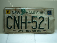1998 NEW HAMPSHIRE Live Free or Die License Plate CNH 521
