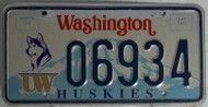 06934 Huskies Washington License Plate