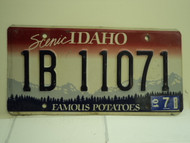 2001 IDAHO Famous Potatoes License Plate 1B 11071