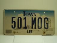 IOWA License Plate 501 MOG