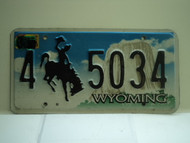 2009 Wyoming License Plate 4 5034